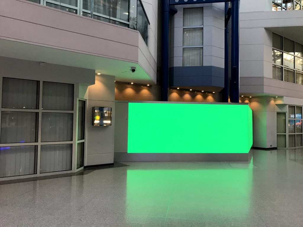 Pictured: AVM installs visual technology into Birmingham's ICC Building
