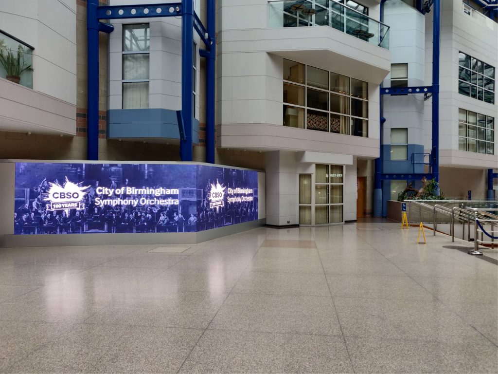 Pictured: AVM installed LED screens, long screens and triangular screens